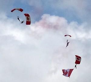The Skyhawks start the Brantford Air Show