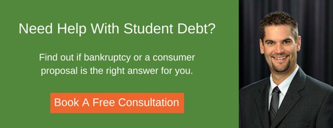 eliminate student debt bankruptcy or consumer proposal